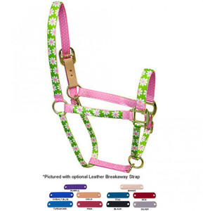 Personalized Name Plate Green Daisy High Fashion Horse Halter