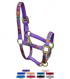 Personalized Name Plate Crazy Hearts High Fashion Horse Halter