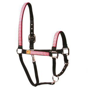 Strawberry Chevron Equine Elite Horse Halter
