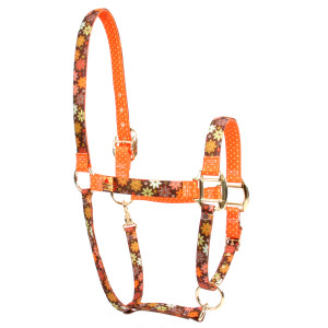 Autumn Flowers High Fashion Horse Halter