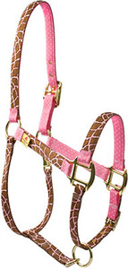 Giraffe Pink High Fashion Horse Halter