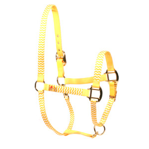 Lemon Chevron High Fashion Horse Halter