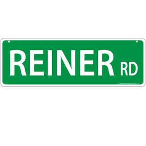 Reiner Horse Street Sign