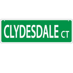 Clydesdale Street Sign