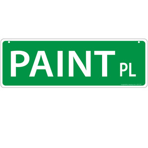 Paint Horse Street Sign