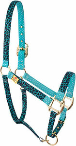 Teal Leopard High Fashion Horse Halter