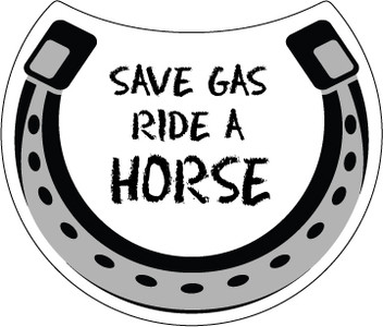 Save Gas Ride A Horse Magnet