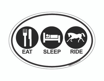 Eat Sleep Ride OVAL Horse Magnet