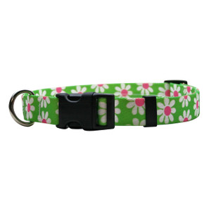 Green Daisy Horse Neck Collar