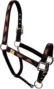 Flaming Skulls Equine Elite Halter For Miniature Horse