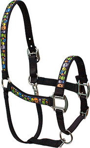 Neon Skulls Equine Elite Halter For Miniature Horse