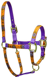 Folk Flowers Flowers High Fashion Horse Halter