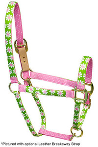 Green Daisy High Fashion Horse Halter