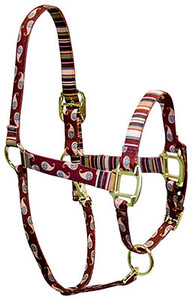 Burgundy Paisley High Fashion Horse Halter