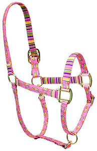 Pink Paisley High Fashion Horse Halter