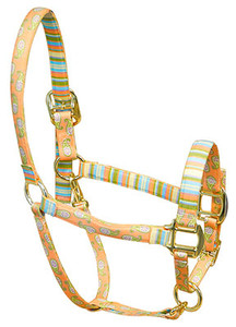 Melon Paisley High Fashion Horse Halter