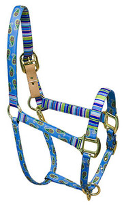 Blue Paisley High Fashion Horse Halter