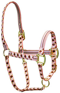 Pink Brown Argyle High Fashion Horse Halter