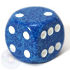 Speckled d6 dice - Water