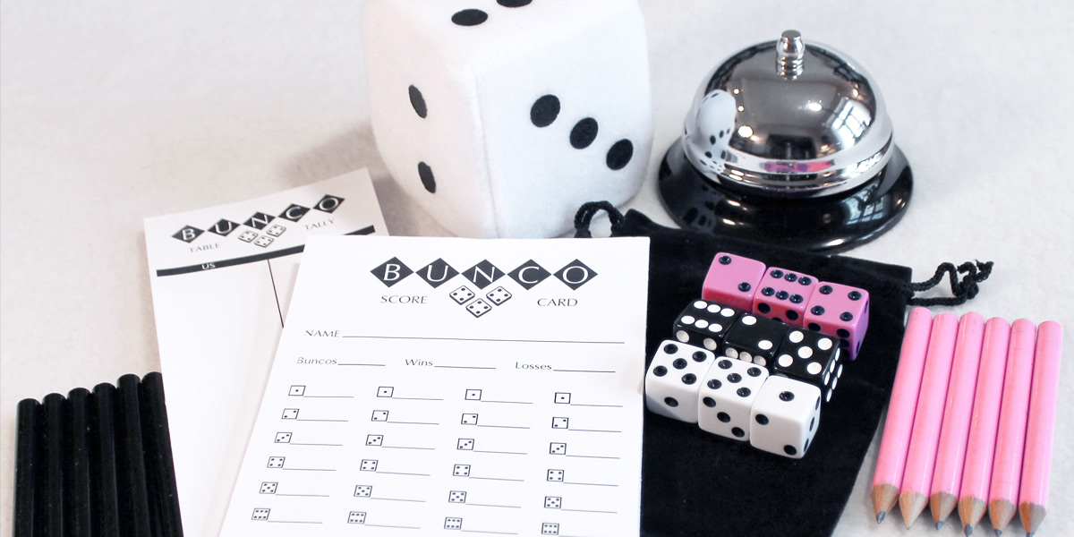 Bunco supplies for sale! Shop for Bunco score cards, dice, bells, and other Bunco goodies!