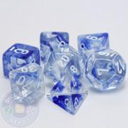 7-piece blue Nebula dice set - D&D dice