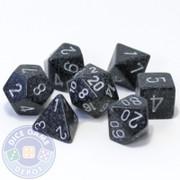 7-piece D&D RPG dice set - Ninja