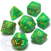 7-piece set of D&D RPG dice - Vortex - Slime