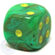 Green Vortex Slime dice from Chessex