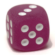 Frosted purple dice from Chessex