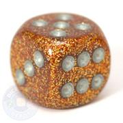 Glitter dice - Gold