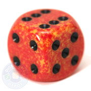 Speckled d6 dice - Fire