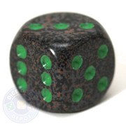 Speckled d6 dice - Earth