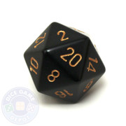 Big d20 - 34mm speckled Black and Gold dice