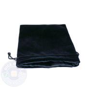 Black satin-lined velvet dice bag