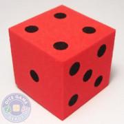 Foam Dice - 25mm - Red