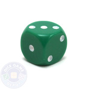 Round-corner 12mm opaque dice - Green