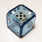 19mm Blue Double Dice