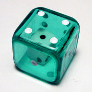 19mm Green Double Dice