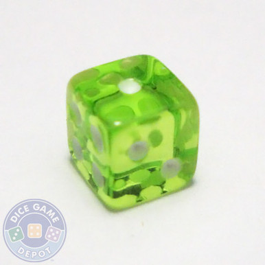 5mm transparent green dice
