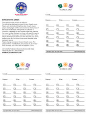 Printable Bunco score sheet
