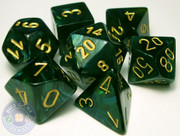 RPG Scarab dice set - Jade