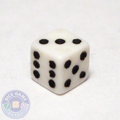 5mm white square-corner dice