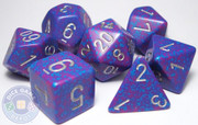 RPG dice set - Silver Tetra