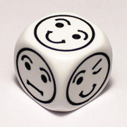 Smiley face dice