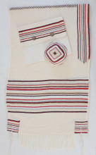 Gvura Tallit shown with optional matching bag and kippah