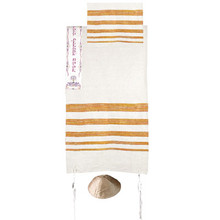 Fabulous orange-striped tallit set.