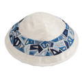 Blue Geometric Shapes Kippah