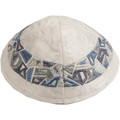 Gray Geometric Shapes Kippah