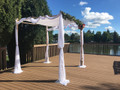 Malchut White-on-White Chuppah Tallit