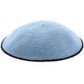 Light Blue Knitted Kippah